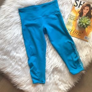 Lululemon Athletica Turquoise Capris Preloved!